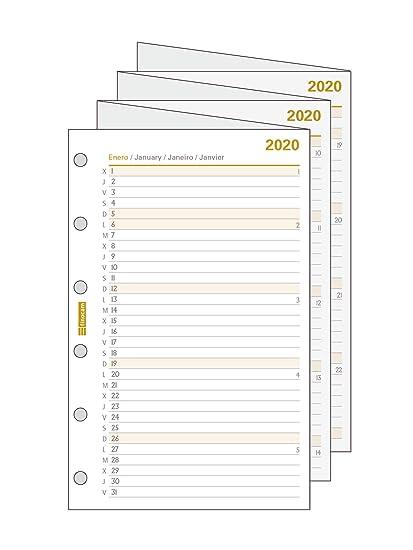 Finocam - Recambio Planificación Desplegable 2020 mes vista ...