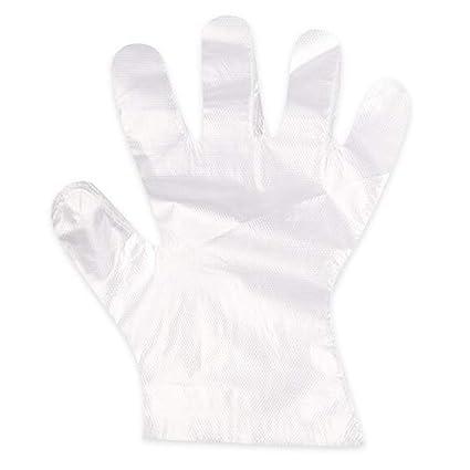 100 pcs claro desechables impermeable de plástico guantes para Hotel Restaurante Home Barbacoa Cocinar al aire