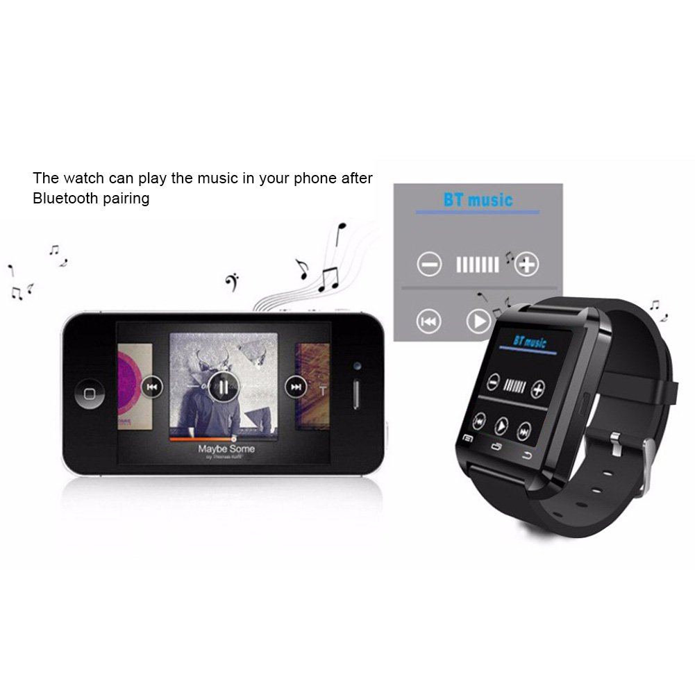 DOESIT Touch Screen Smartwatch U8 Bluetooth Smart Watch for Samsung Galaxy HTC Nexus Sony LG Huawei Android Smartphones by DOESIT (Image #7)
