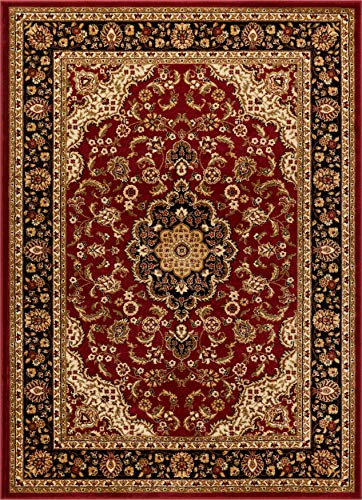 Noble Medallion Red Persian Floral Oriental Formal Traditional Area Rug 7x10 (6'7