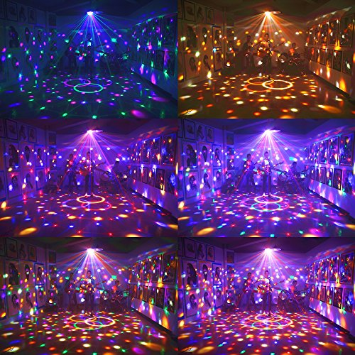 Dj Disco Ball Party Lights Bluetooth Speaker TONGK LED Magic Ball Colorful Mirror Ball Disco Lights Sound Activated Strobe Light for Home Party Gift Birthday halloween Dance Bar Xmas Wedding Show Club by TONGK (Image #2)