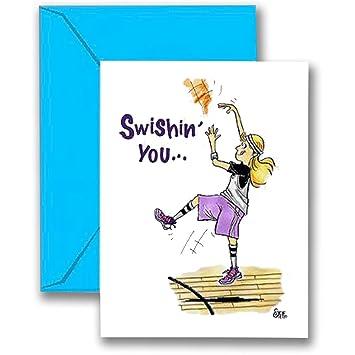 Tarjeta de cumpleaños de baloncesto para niña, tarjeta de ...