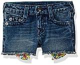 True Religion Little Girls' Fashion Short, Morning Glory, 4