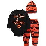 halloween disfraces niños ropa bebe niño invierno otoño 2017 Switchali recien nacido Bebé Niña manga larga Camisetas mono + Pantalones + Sombrero Conjuntos de ropa mamelucos