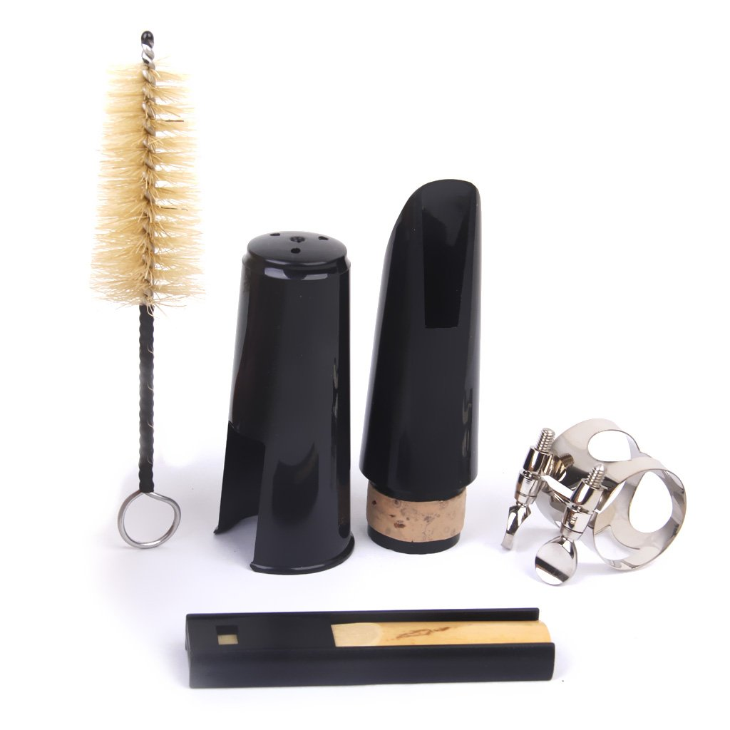 Clarinet Mouthpiece + Cleaning Kit Black