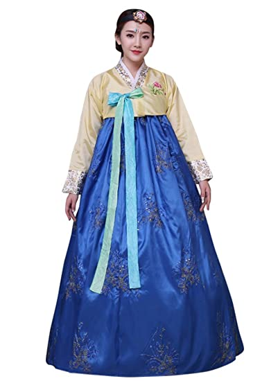 a228e3bc46fbd CRB Fashion Womens Korean Traditional Hanbok Top Dress Costume with  Headpiece Set Outfit