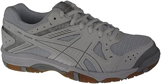 Asics Women's GEL-1150V Indoor Court White/Silver/Snow 6 B(M