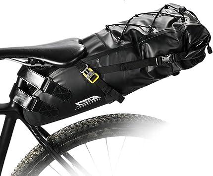 Lesrly-Cycle Bolsa de sillín de Bicicleta Impermeable, MTB de Gran ...