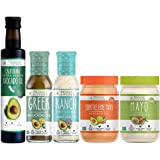 Primal Kitchen – Whole 30 Kit | Mayo, Chipotle Lime Mayo, Extra Virgin Avocado Oil, Greek Vinaigrette and Marinade, Ranch Dressing