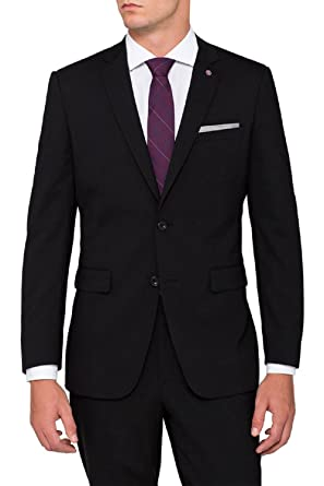 Menjestic Men's Formal Party Wear Black Blazer: Amazon.in ...