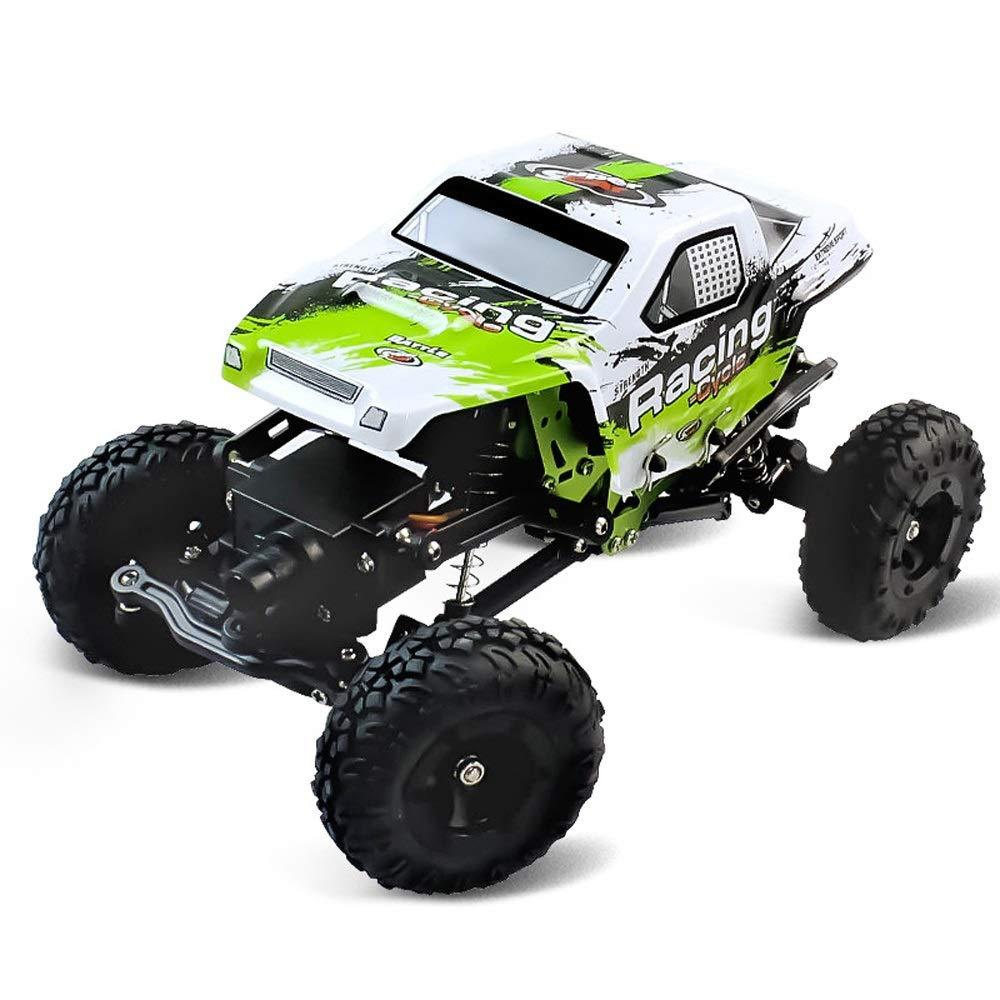 Pinjeer ミニ1:24ダブルステアリングギアクライミングオフロード車リモートコントロール四輪駆動充電電動おもちゃの車の誕生日プレゼント用キッズ8+ (サイズ : 4-Battery) B07R59LJW7  4-Battery