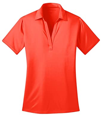 Port Authority Womens Silk Touch Performance Polo L Neon Orange ...