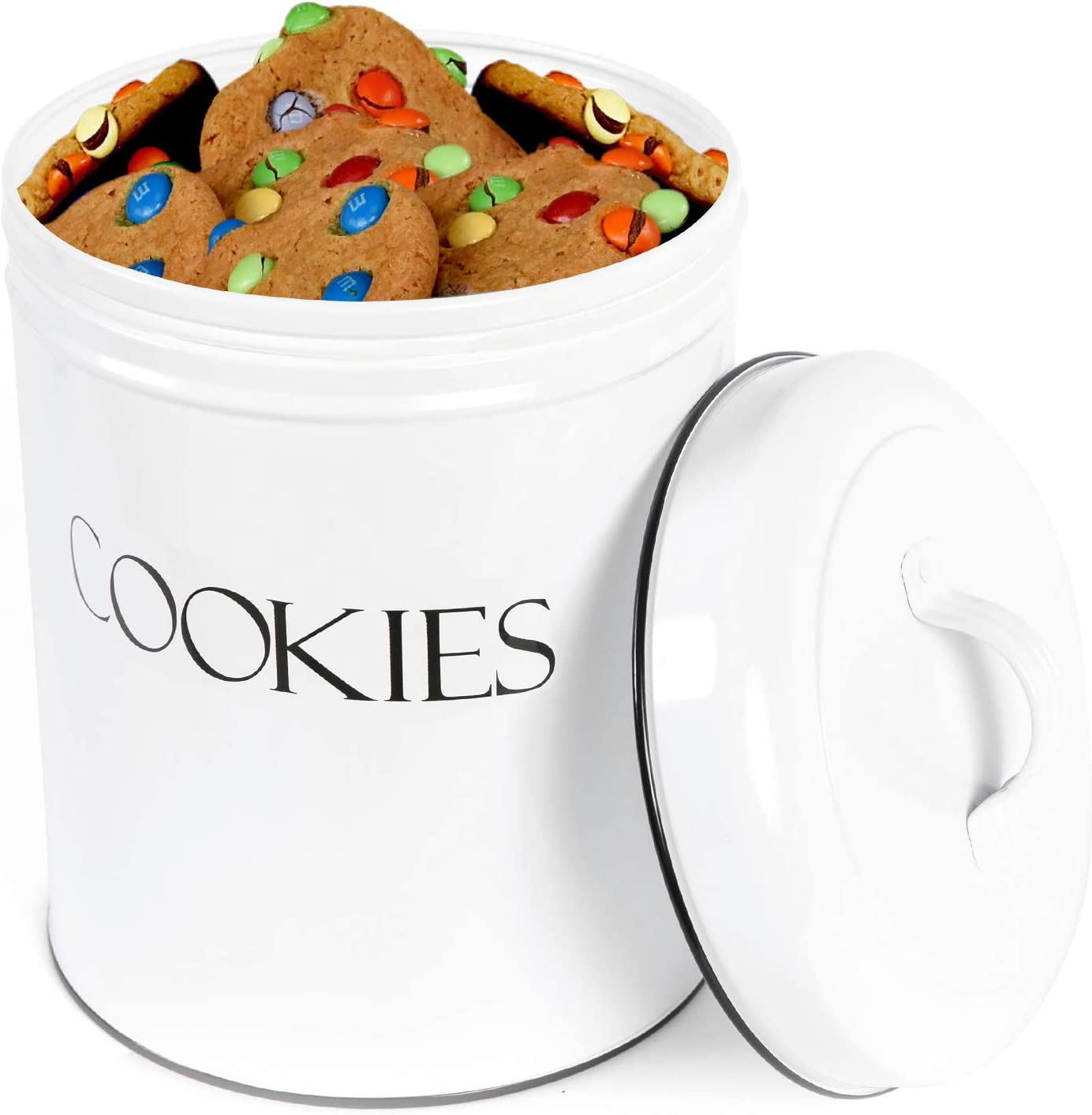 Amazon Com Outshine White Vintage Farmhouse Cookie Jar Airtight Food Storage Container With Lid For Cookies Biscuits Baked Treats Snacks Gift For Housewarming Birthday Wedding Christmas Home Improvement