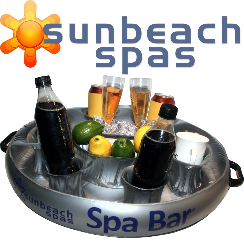 Sunbeach Round Spa Bar - Inflatable Floating Hot Tub Spas Snack & Drink Tray