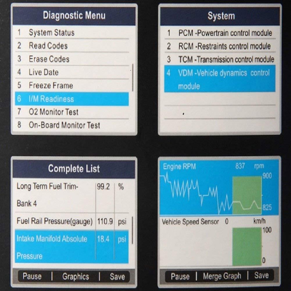Autel MaxiDiag Elite MD802 Car Diagnostic OBD2 Scanner Code Eraser Reader  with Full Diagnosis ABS, SRS, Engine, Transmission, Reset Services Oil and