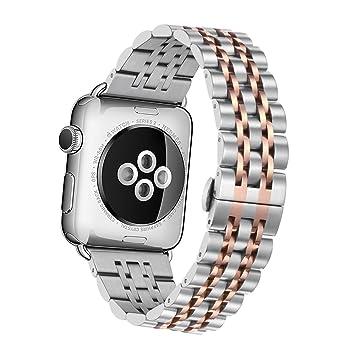 Elobeth - correa para Apple Watch, cierre magnético de acero inoxidable reloj inteligente