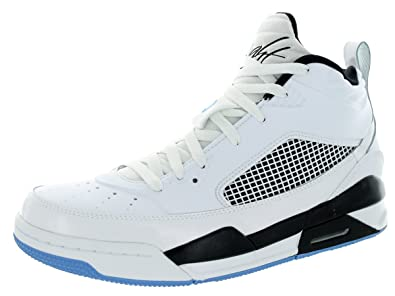 9115e987217e52 Nike Jordan Mens Jordan Flight 9.5 White Legend Blue Black Basketball Shoe  10.5 Men