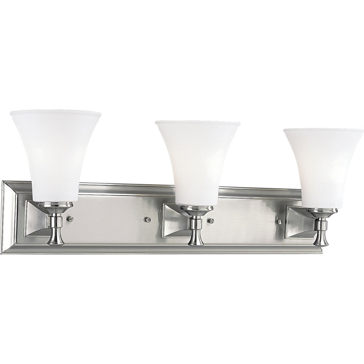 Progress Lighting P3133-09 3-Light Bath Fixture, Brushed Nickel