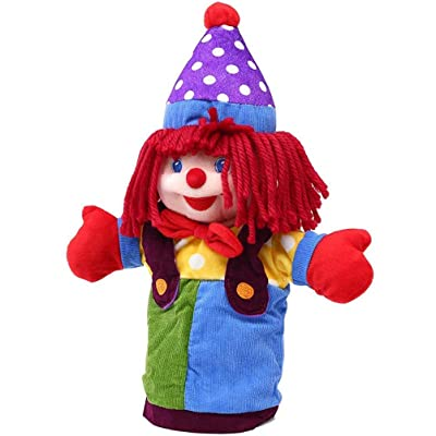 AGAWA Plush Cartoon Clown Hand Puppet for Kids Storytelling Game Props Toy Girls Kindergarten Role Play Hand Puppet: Toys & Games