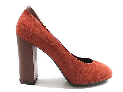 scarpe donna HOGAN decolte rosso camoscio AZ126