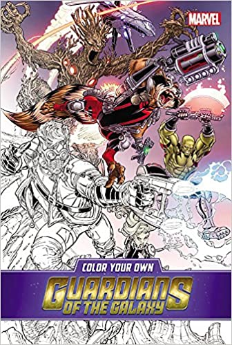 Color Your Own Guardians of the Galaxy: Amazon.de: Marvel ...