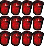 Cheap Biedermann Rustic Glass Votive Holder, Red, Set of 12