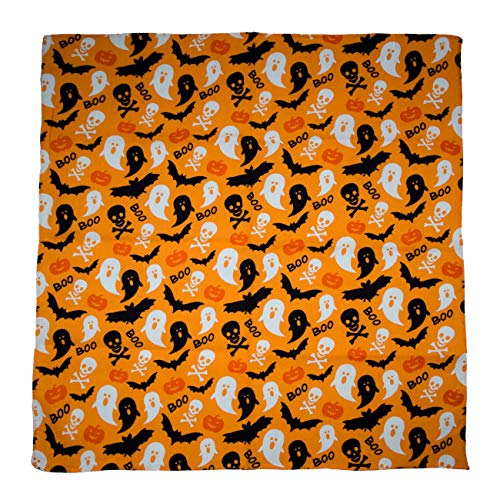 Halloween Boo Bandana - Single Piece - 22x22 -