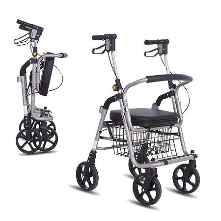 Andador con ruedas y asiento
