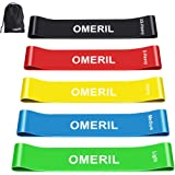 OMERIL Resistance Bands, Skin-Friendly Resistance Loops Exercise Bands with 5 Resistance Levels Workout Bands for Legs…