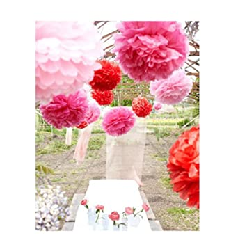 Super44day 30er Set Seidenpapier Pompoms Aufhangen Blumen Ball Diy
