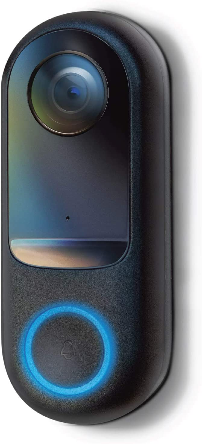Home Zone Security Doorbell Camera - Smart 2.4GHz 1080P Hardwired Doorbell Camera, No Subscription Required (for Wired Doorbell Systems with Mechanical Chime)