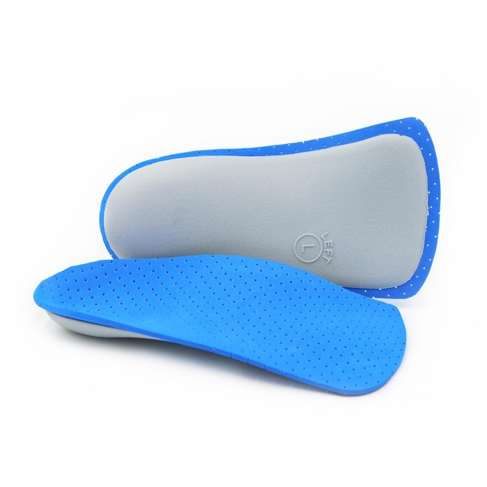 3/4 Orthotic Insoles - for Foot Pain from Plantar Fasciitis, High Arch, Over-pronation, Flat Feet Arch Support Insoles(S - W7.5-9.5   M7-8.5)
