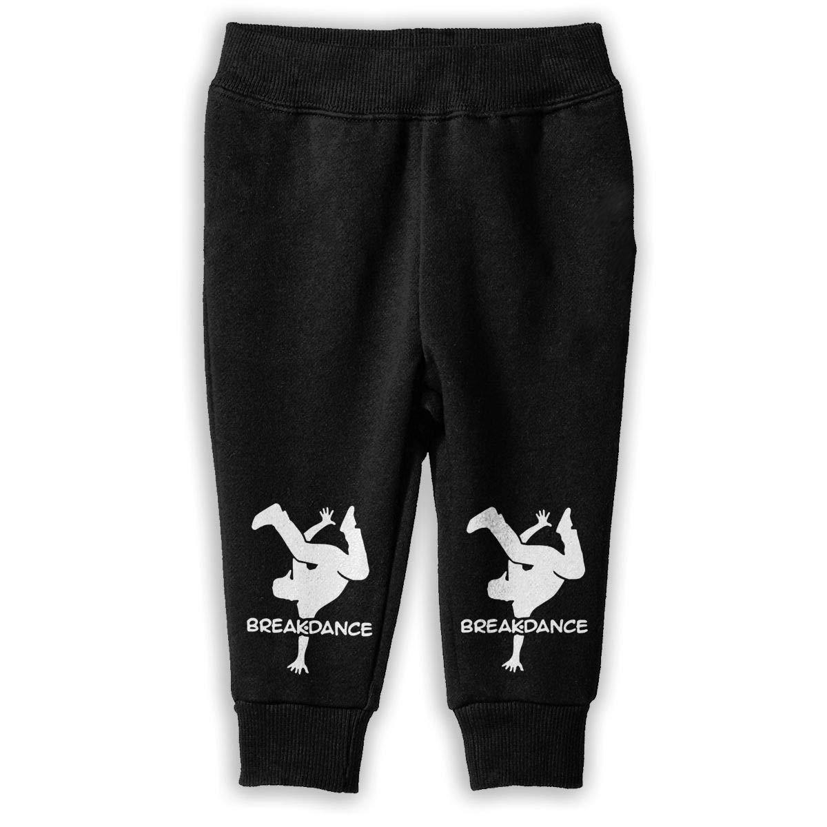 Printed Breakdancing Silhouette Child Boys /& Girls Unisex Sports Sweatpants