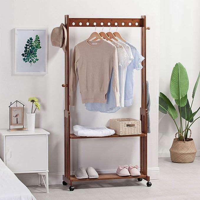 Amazon.com: Perchero de bambú para dormitorio con diseño de ...