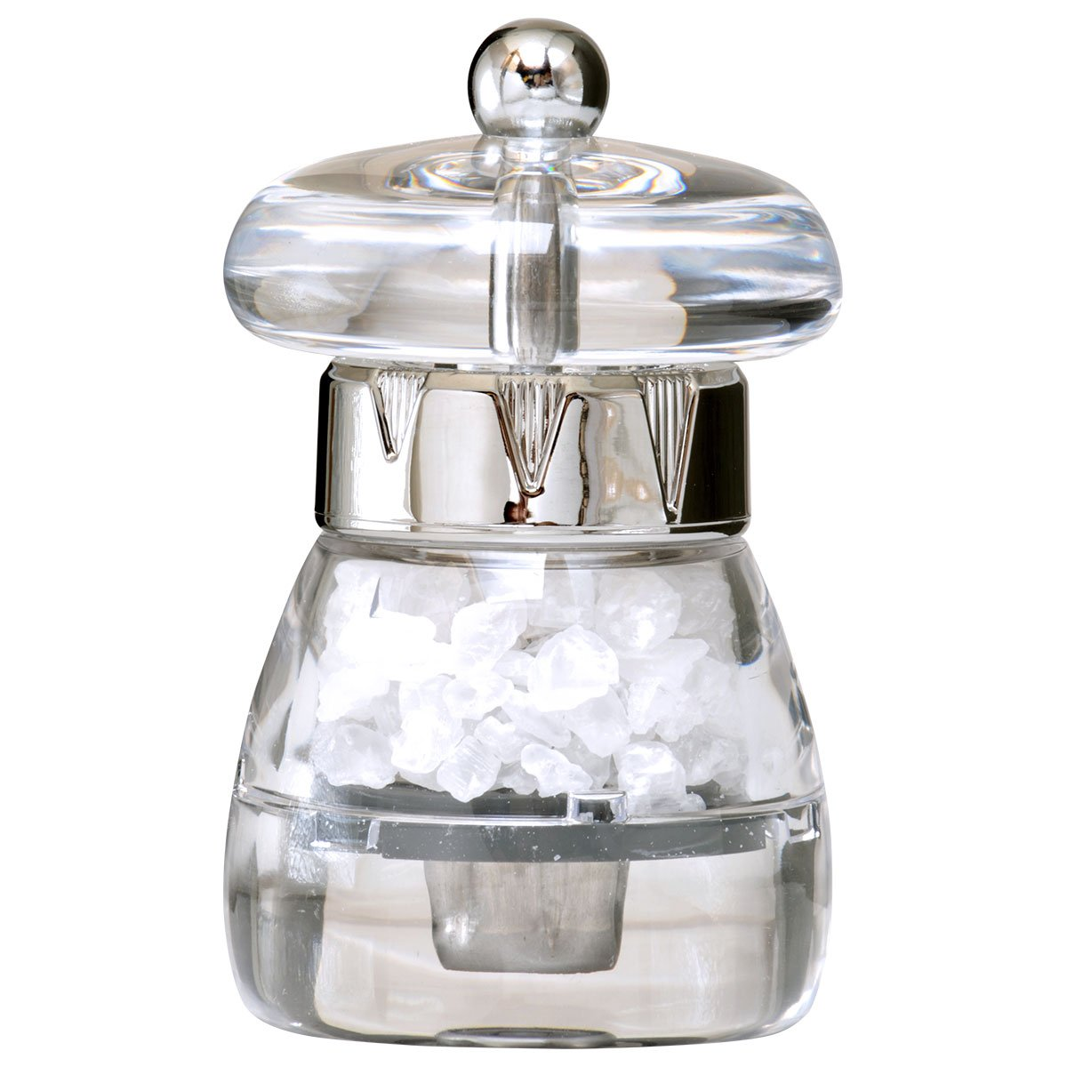 William Bounds 04129 Mini Mushroom Mill - Pepper Grinder - Acrylic and Chrome Finish