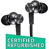 (Certified REFURBISHED) Mi Basic in-Ear Headphones with Mic (Matte Black)