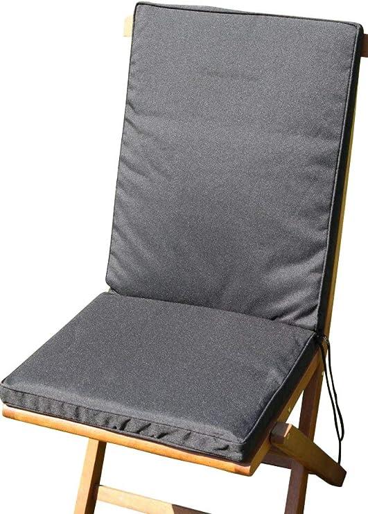 Cojín para muebles de jardín - Cojín con respaldo para silla de ...