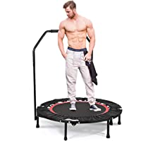 Deals on ANCHEER Fitness Exercise Trampoline with Handle Bar
