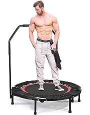 """ANCHEER 40"""" Mini Trampoline de Fitness Pliable avec Poignée, d'Entraînement Cardio pour Adultes ou Enfants (Charge Maximale: 135KG, Tapis de Saut Extensible)"""