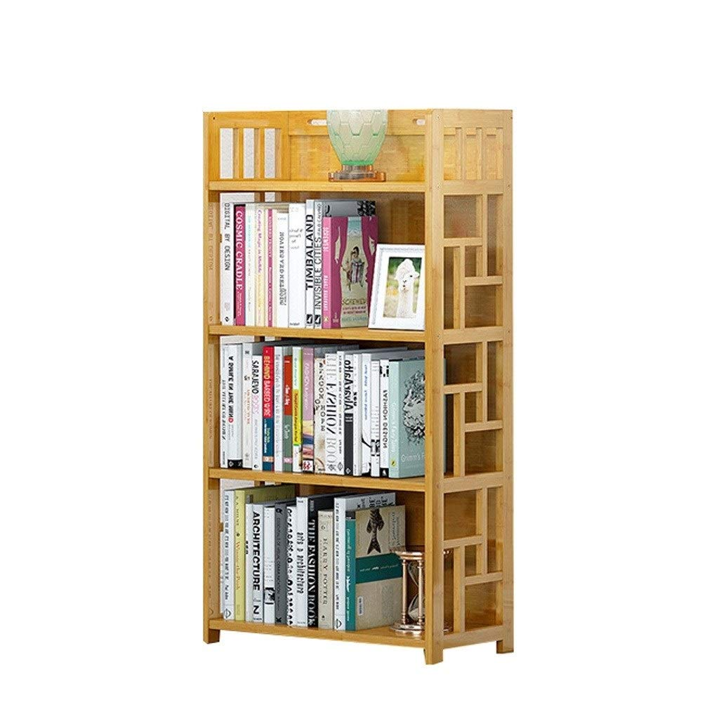 TIAN 3,4,5-Tier Combination of Simple Shelf Bamboo Multi-Layer Bookcase Students Bookshelf Children Shelf Stand Shelves (Color : A, Size : 80113cm) by TIAN