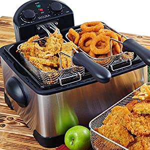 Secura 4.2L/17-Cup 1700-Watt Stainless-Steel Triple-Basket Electric Deep Fryer, with Timer : Excellent choice