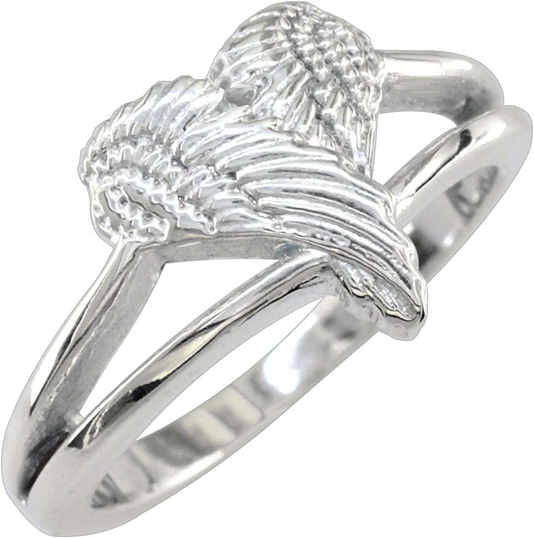 Rings For Women Angel Wings Heart Shape Love Wedding Rings Punk Silver Jewelry