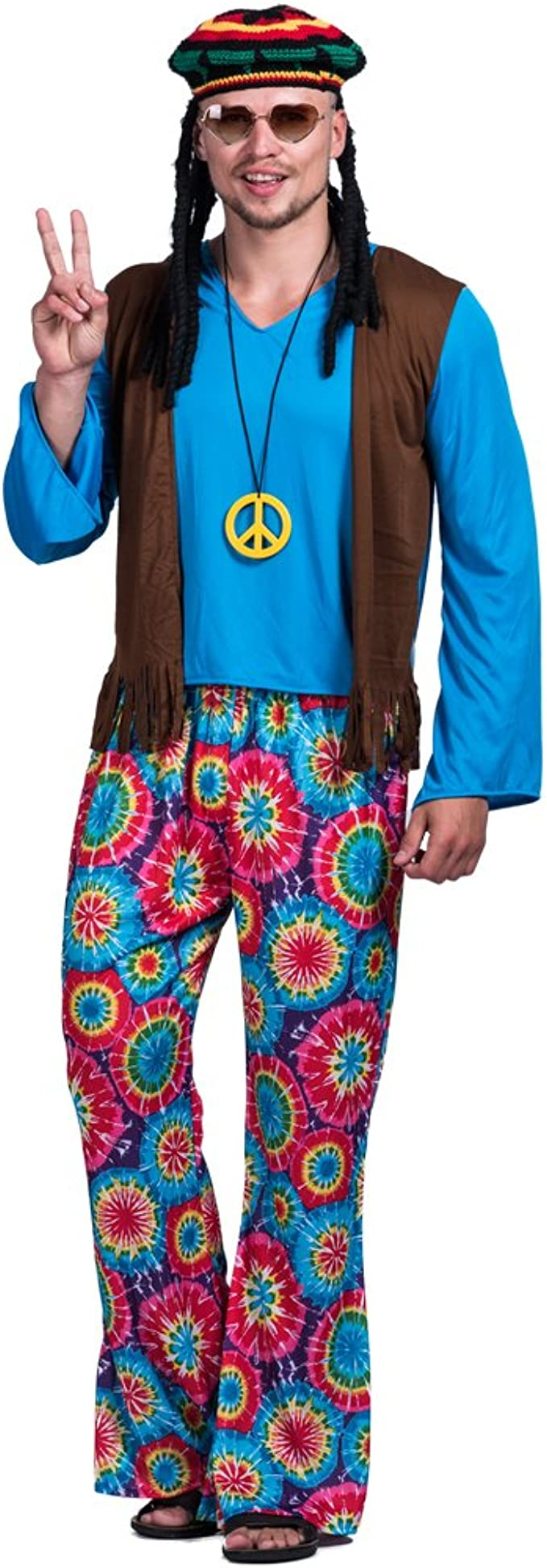 70s Costumes: Disco Costumes, Hippie Outfits EraSpooky Mens Adult Hippie Love Peace Costume $22.27 AT vintagedancer.com