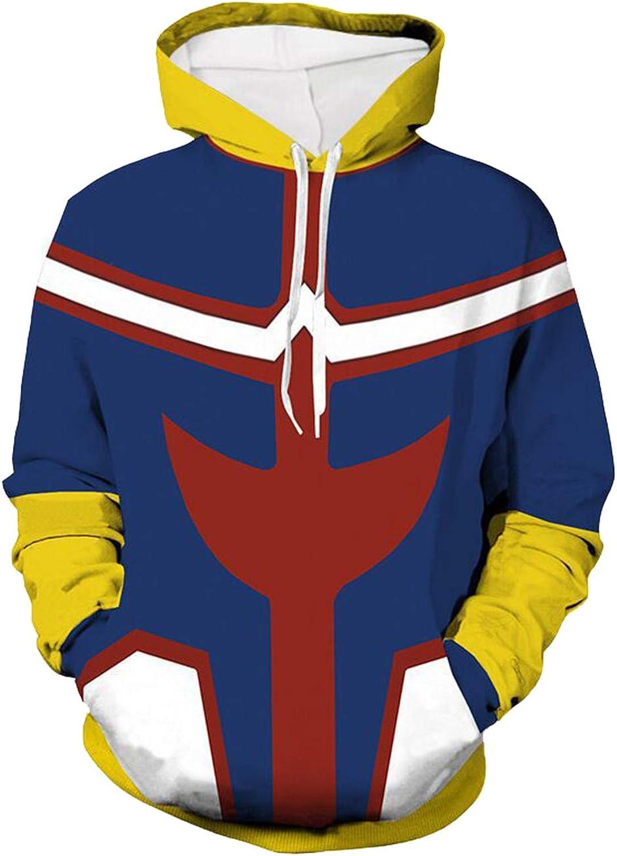 Baycon Academia Heroes Thick Hoodie Hooded Sweatshirt Pullover