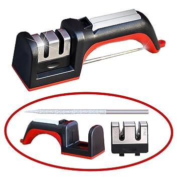 Afilador de cuchillo, dos etapas Diamond multifunción Meiso Juego de cuchillos de cerámica piedra de afilar kit hogar Sharpeners sistema Set: Amazon.es: ...
