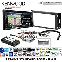 Volunteer Audio Kenwood DNX574S Double Din Radio Install Kit with GPS Navigation Apple CarPlay Android Auto Fits 2005-2013 Chevrolet Corvette, 2006-2009 Hummer H3 (OE amplified systems and Onstar)