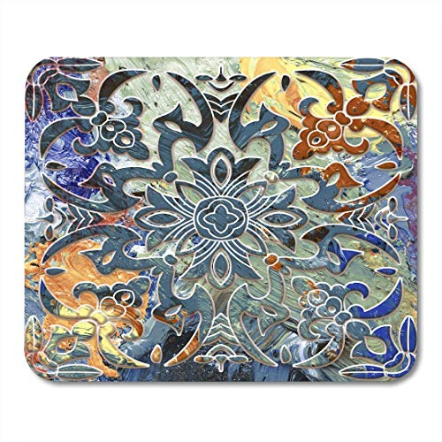 Mouse Pads Blank Carving Digital Design Floral Effect Tulip Abstract Alabaster Bridal Mouse Pad for Notebooks,Desktop Computers Mouse Mats 9.8x11.8 - Alabaster Carving
