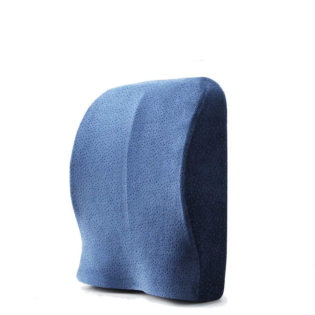 Memory Cotton Cushions, Relieve Back Fatigue, Ergonomic Space, Memory Foam Cushions For Family Seats And Cars Size: 39cmx39cmx9cm (color : Blue)