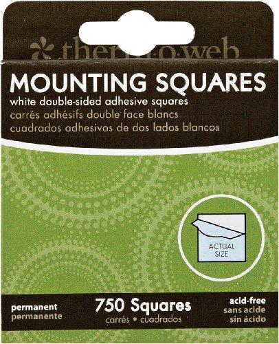 Thermoweb Mounting Squares 750/Pkg, White 1/2-Inch