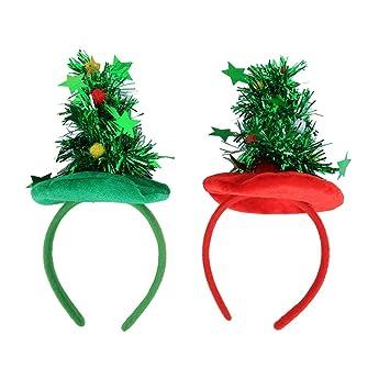 Toyvian 3 Unids Forma De Arbol De Navidad Banda Para El Cabello Pelo